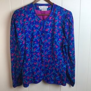 Vintage 80s Pink/Blue/Teal Lightweight Jacket